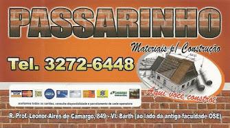 PASSARINHO MATERIAIS PARA CONSTRUÇÃO