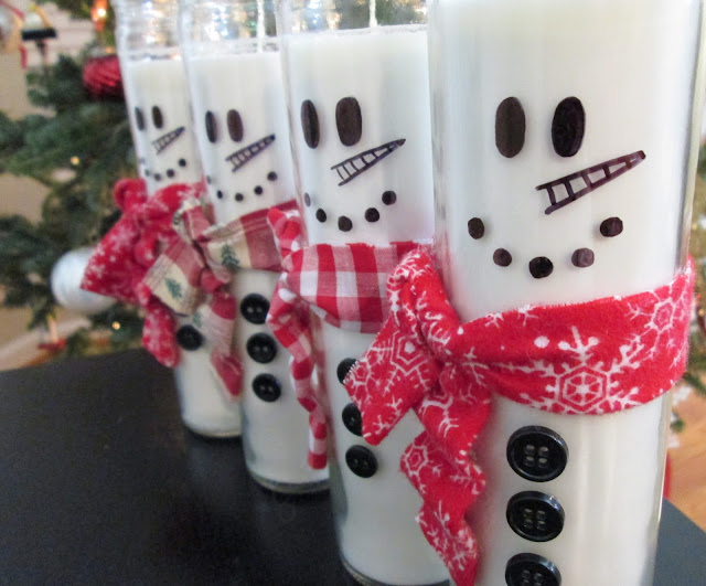 DIY Christmas Craft Snowman Candle