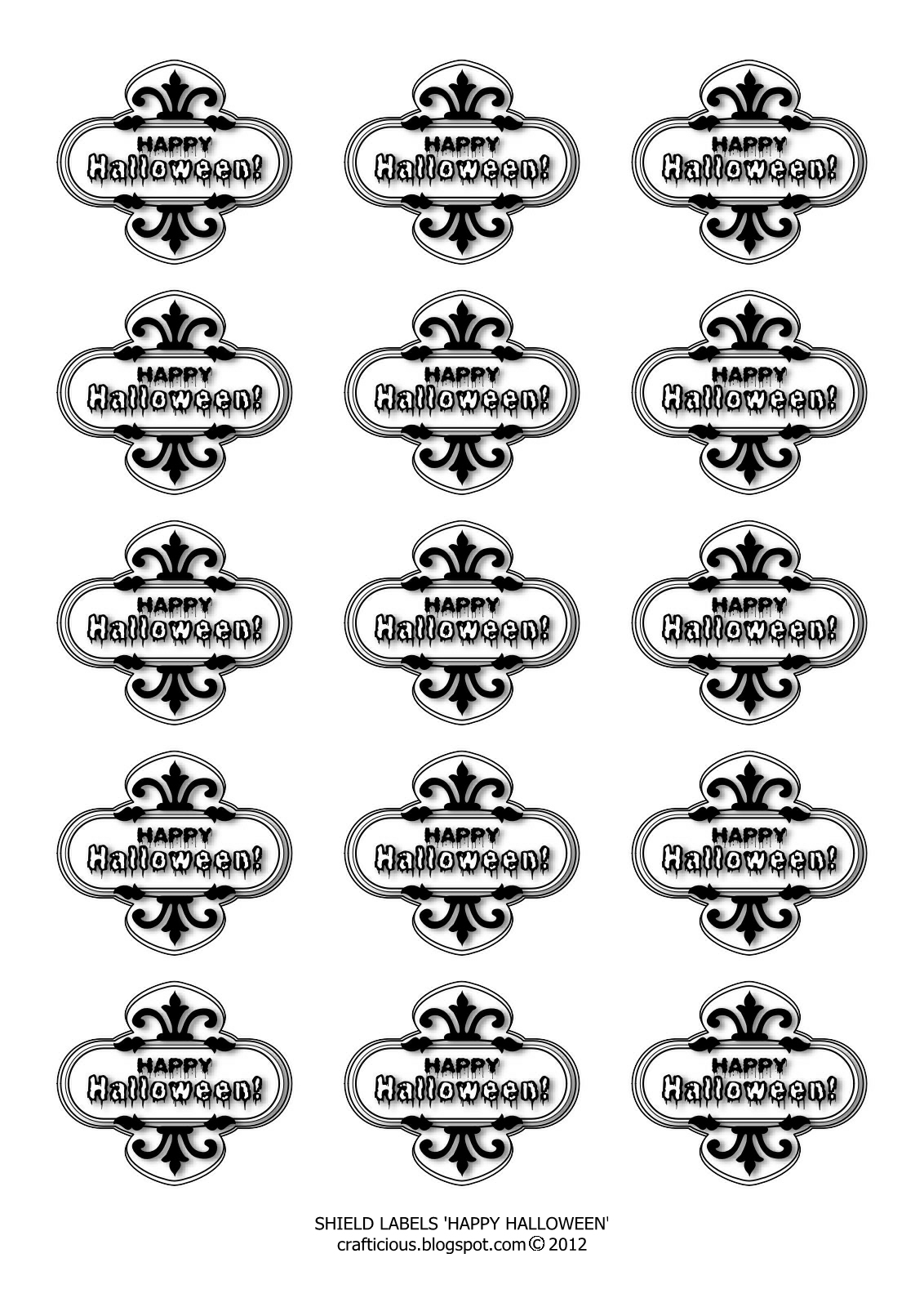 free download halloween skulls labels - Download Halloween Pictures Free