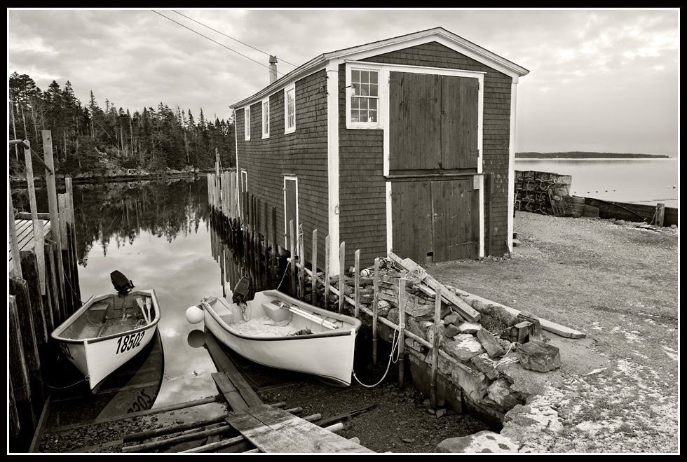 Nova Scotia; Boats, Boathouse; Lobsters