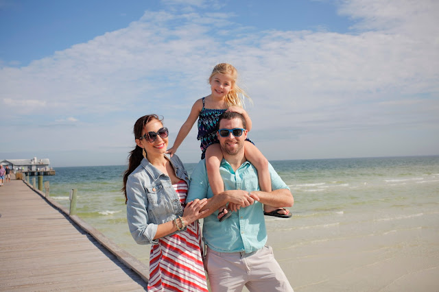 Amy  West and family in Anna Maria Island