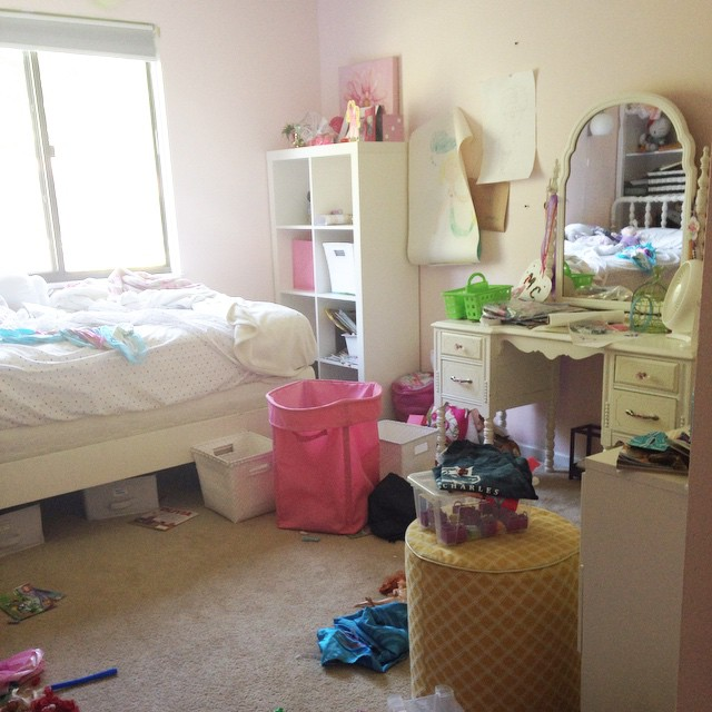 Girl's Room Overhaul & How To Deal With A Mini Hoarder