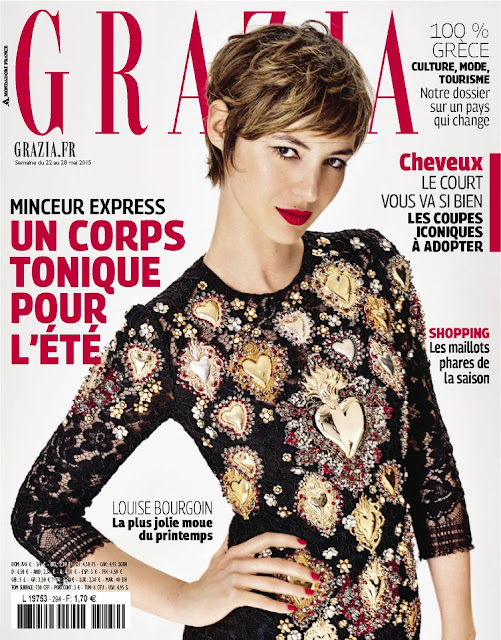 "TV Host, Model, Actress @ Louise Bourgoin - Grazia France, May 2015     <a href=""http://en.wikipedia.org/wiki/Louise_Bourgoin"" target=""_blank"" title=""Wikipedia "">(Wikipedia)</a>"