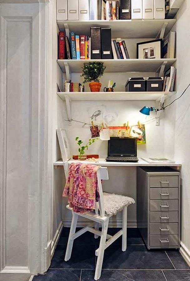 Dos rincones de trabajo para casas pequeñas.