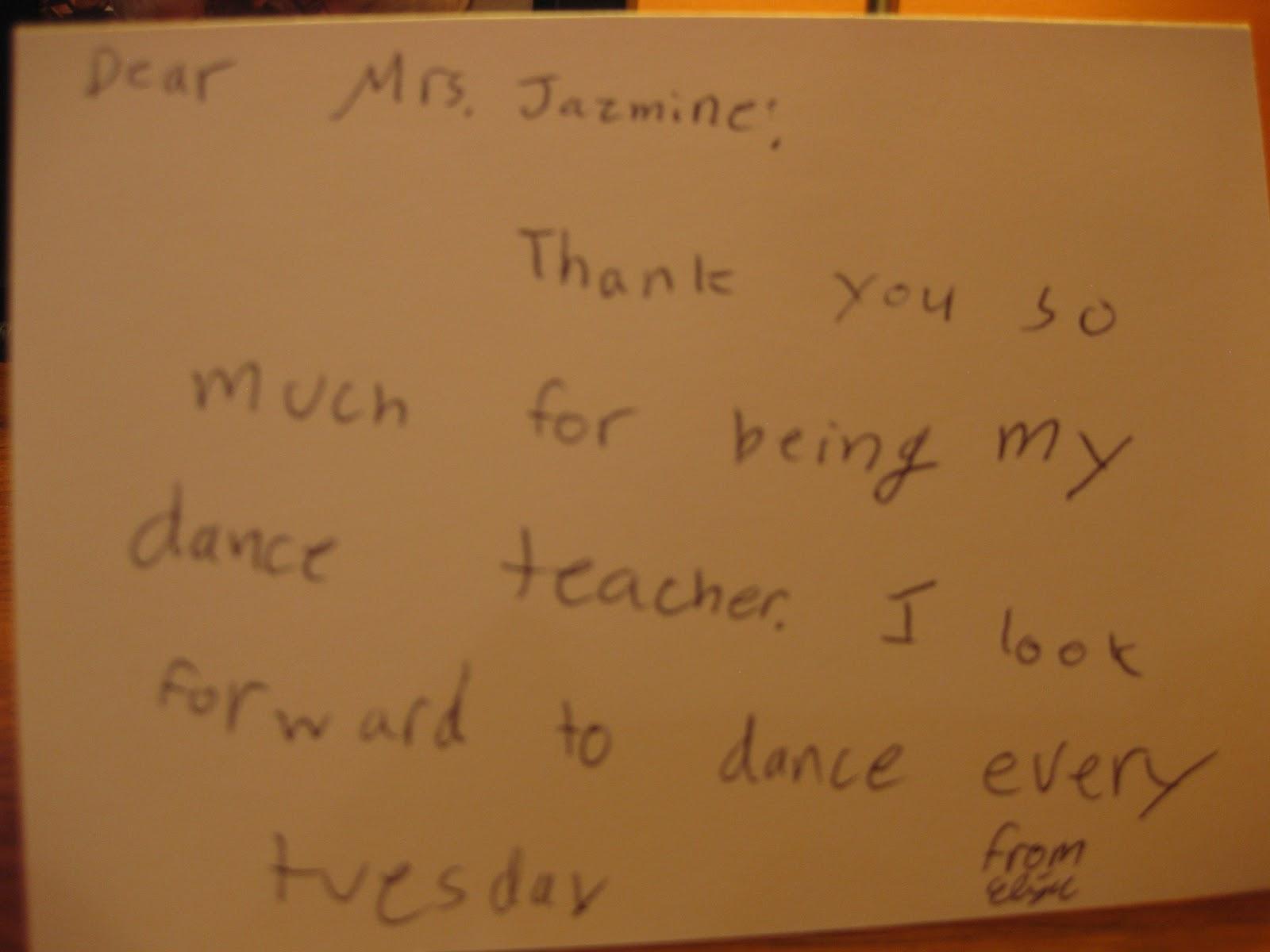Thank You Teacher Note...