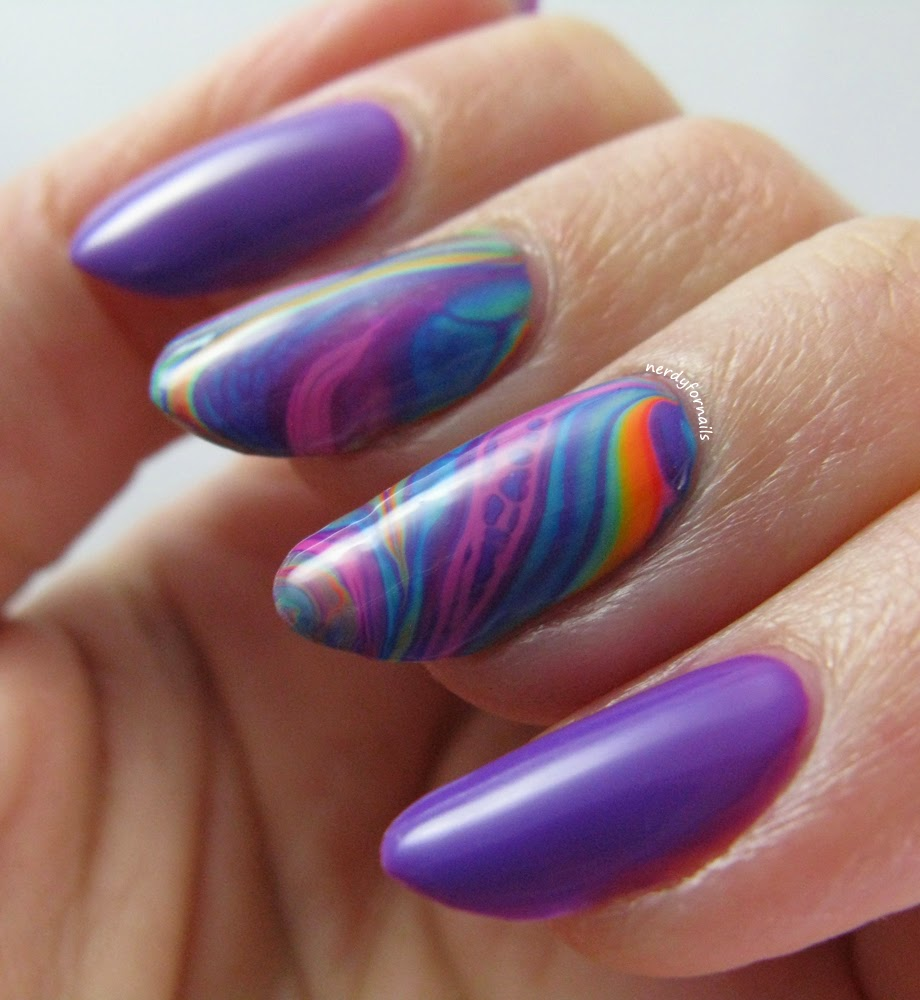 China Glaze Summer 2015 Electric Nights Collection Water Marble with Plur-ple