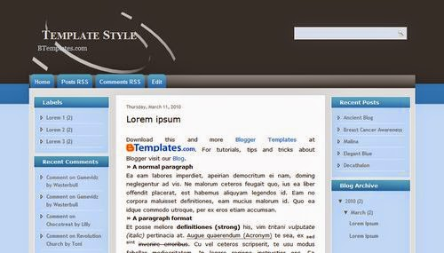 Template Style - Free Blogger Template