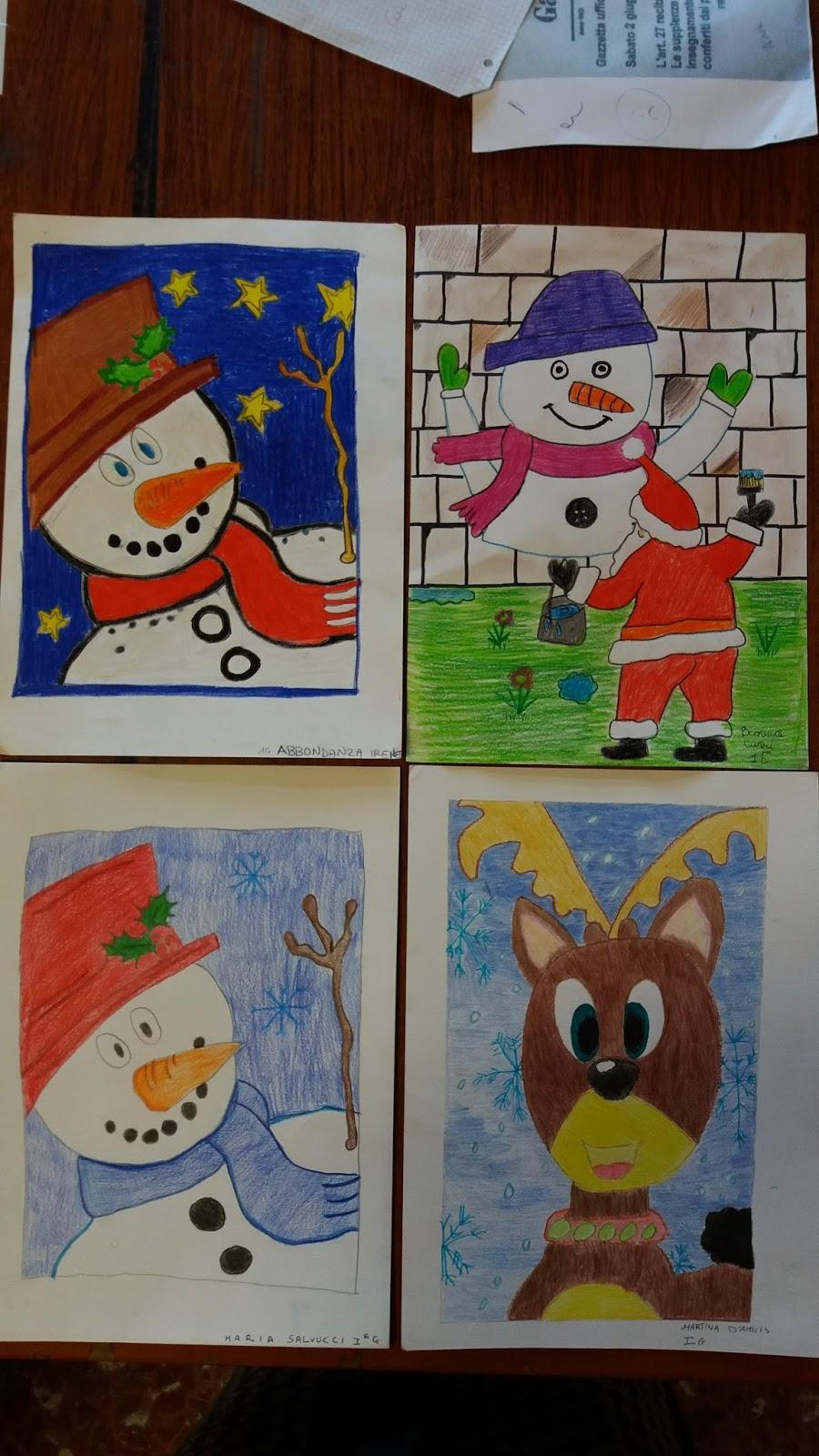 Disegni Di Natale Per Scuola Media.Due Ore Di Arte Natale 2015 La Mostra Dei Disegni Degli Alunni