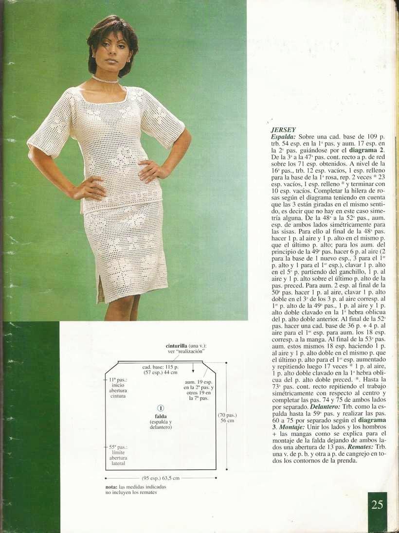 Esquema de blusa y falda
