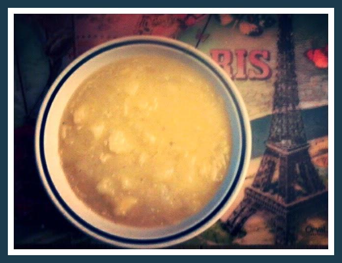 zuppona di cipolle dorate e patate alla cannella e parmigiano