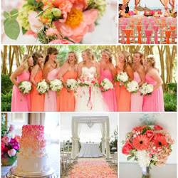 Shades of Coral and Teal Tropical Wedding Colour Scheme | A Hue For Two