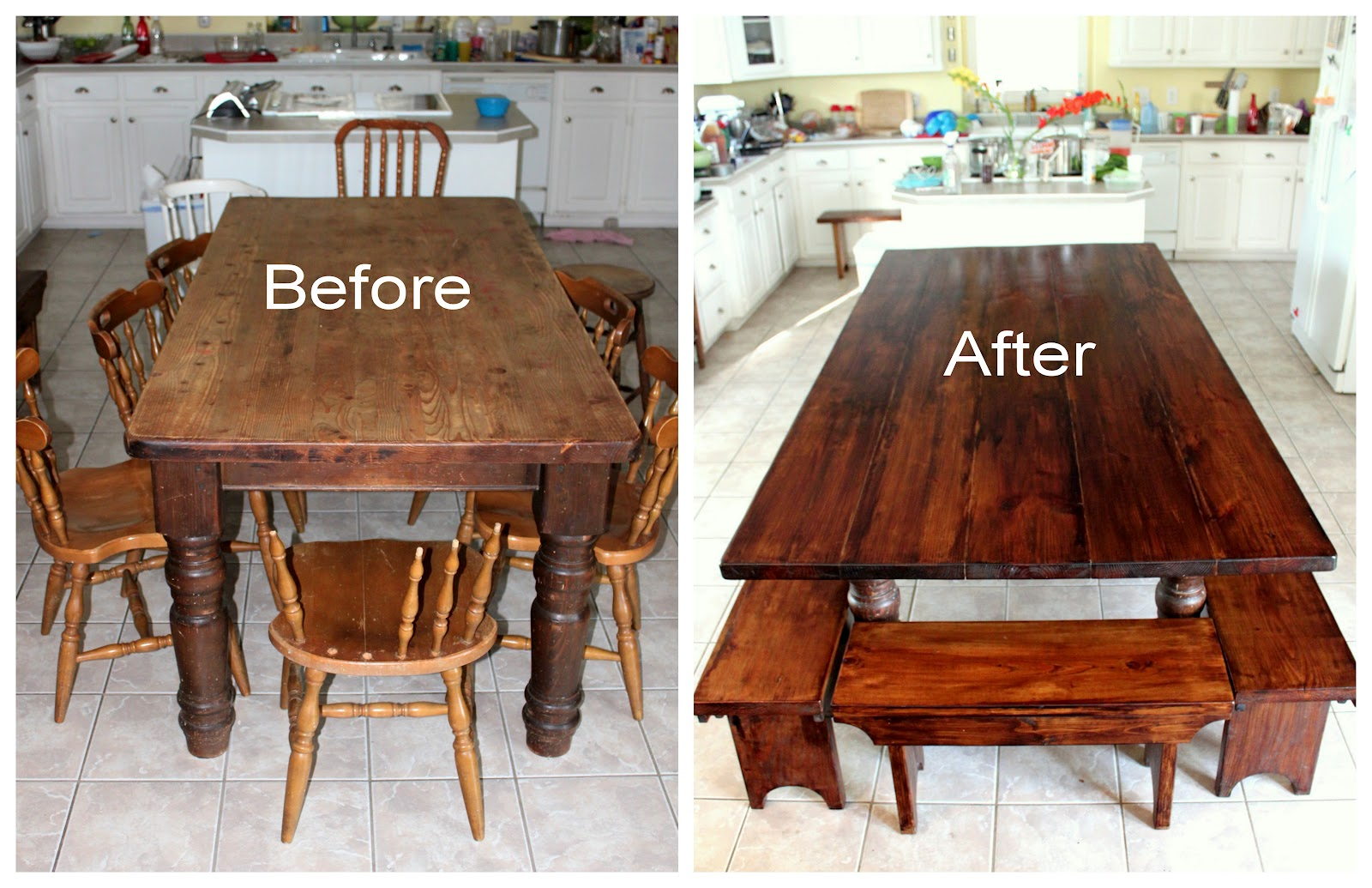 Melinda beth our new homemade table workwithnaturefo