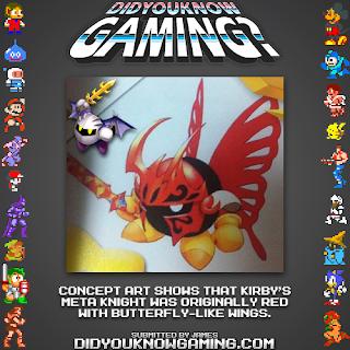 kirby meta knight fact Random Game Fact   Meta Knight the Butterfly?