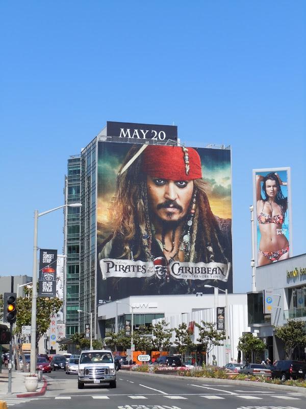 Johnny Depp Jack Sparrow Billboard Sunset Strip