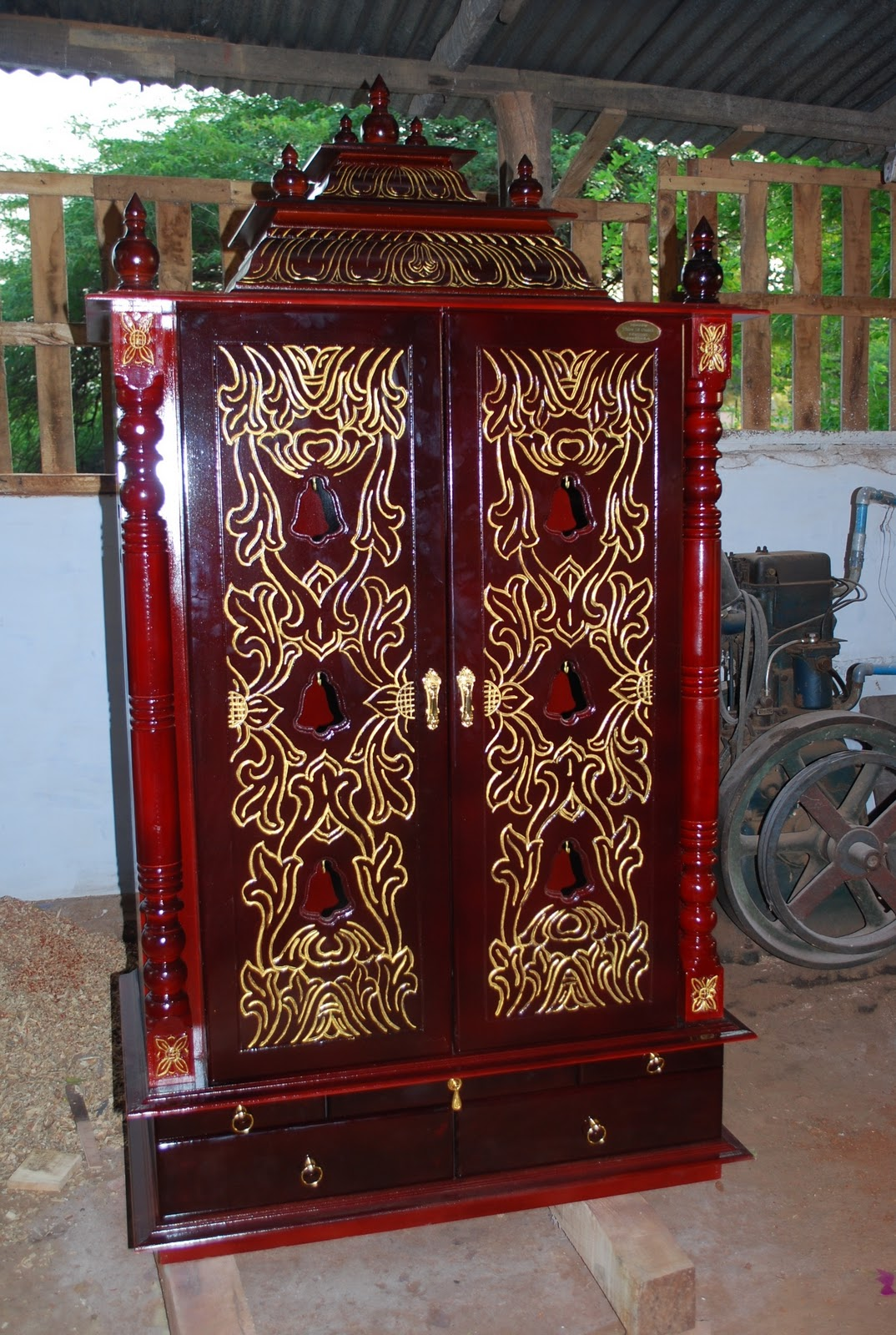 Wooden Furniture Pooja Cabinet