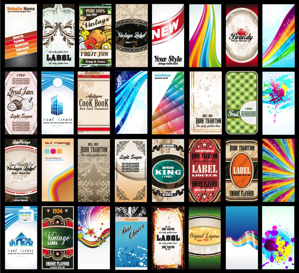 美しいカードの背景見本 variety of beautiful card background イラスト素材