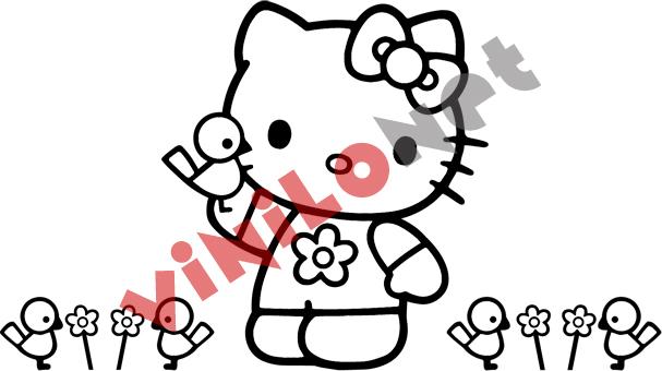 Hello kitty vinilo decoracion paredes pegatina de pared no for Vinilo hello kitty