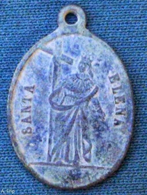 Medalla antigua de Santa Elena