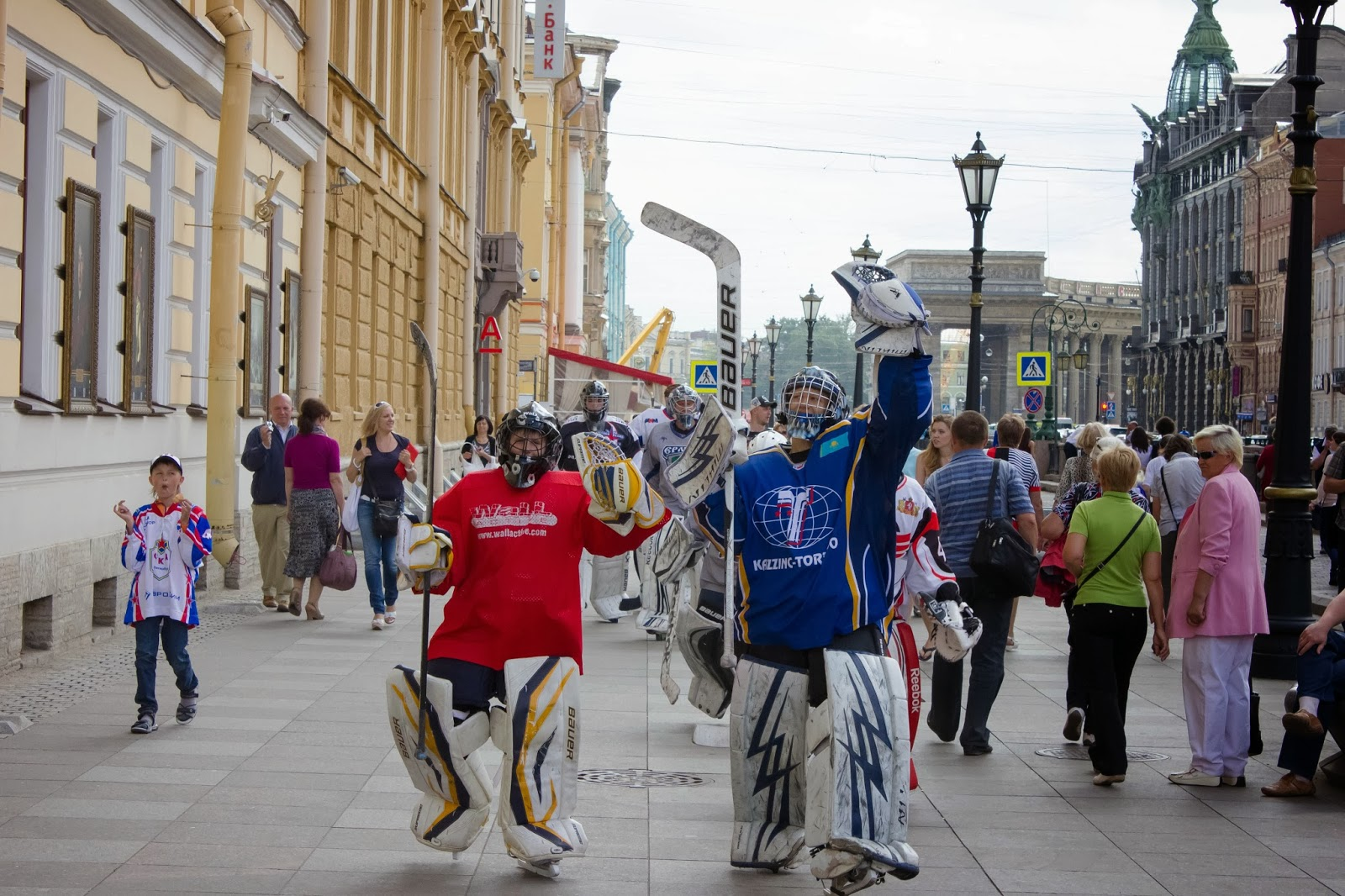 Санкт-Петербург, Россия, Хоккеисты