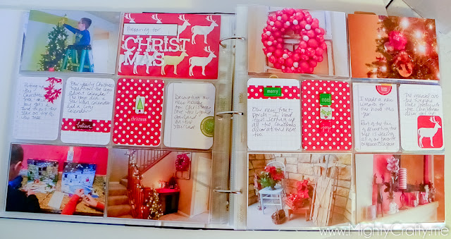 Project Life Christmas layout by MightyCrafty.me
