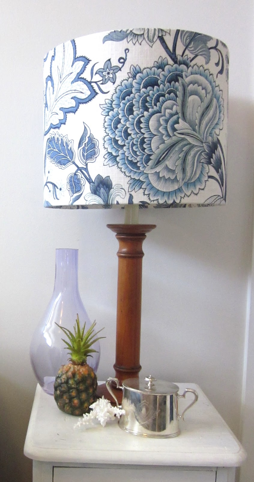 Beach House Decor A Lamp Shade Make Over In Blue And