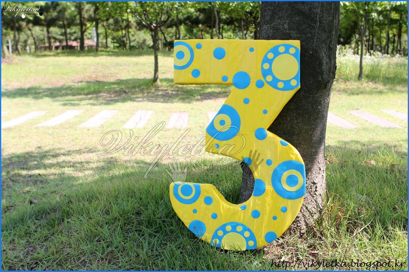 Цифра 2 из пенопласта на день рождения своими руками 76