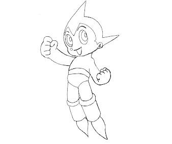 #6 Astro Boy Coloring Page