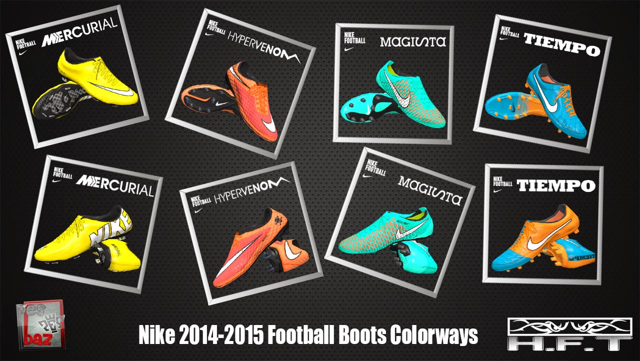 PES 2014 Nike 2014-2015 Football Boots Colorways by H.F.T