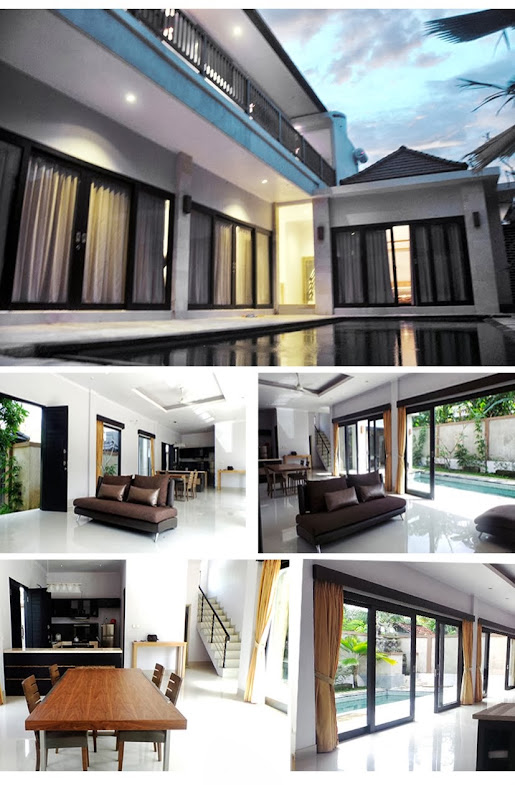 canggu villa with pool for rent