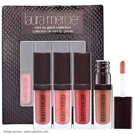 Laura Mercier Mini Lip Glacé Collection Indian Makeup Beauty Blog Swatches Holiday Sets Sephora