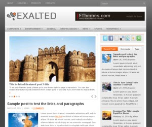 Exalted WordPress Theme