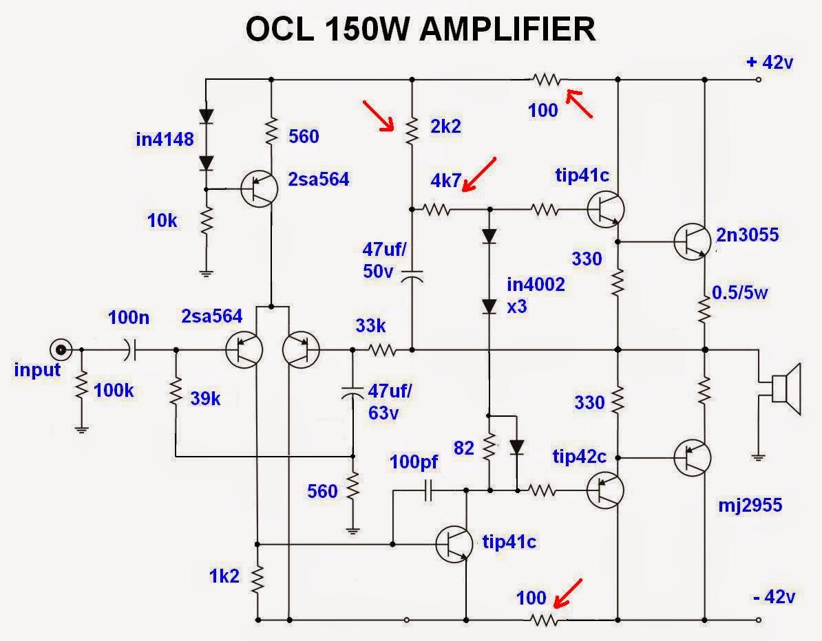 Схемы усилителей на транзисторах tip