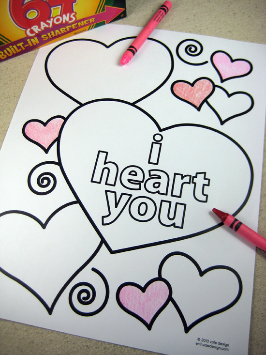 Hilaire image within free printable valentine cards to color