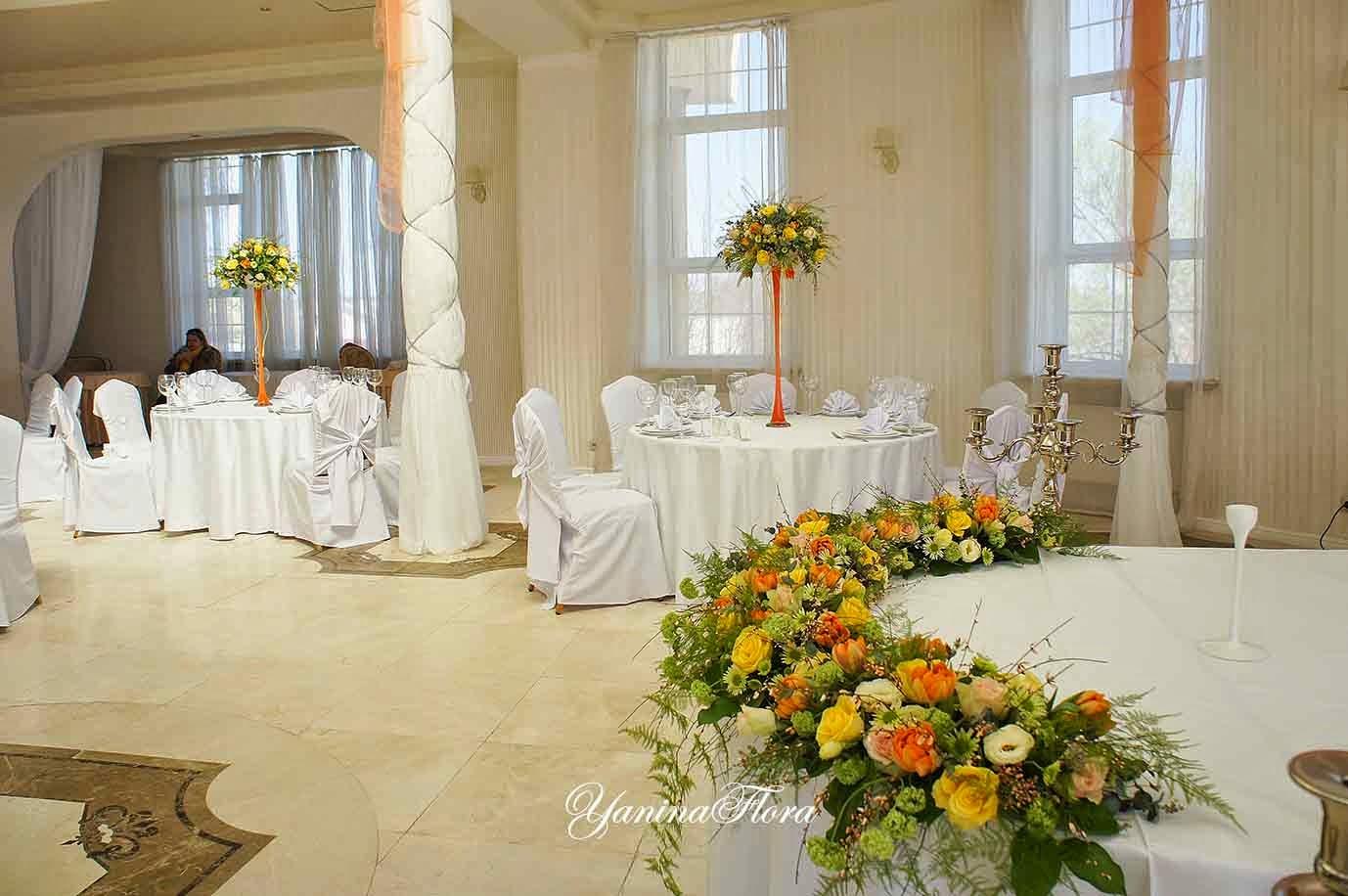 оформление зала на свадьбу