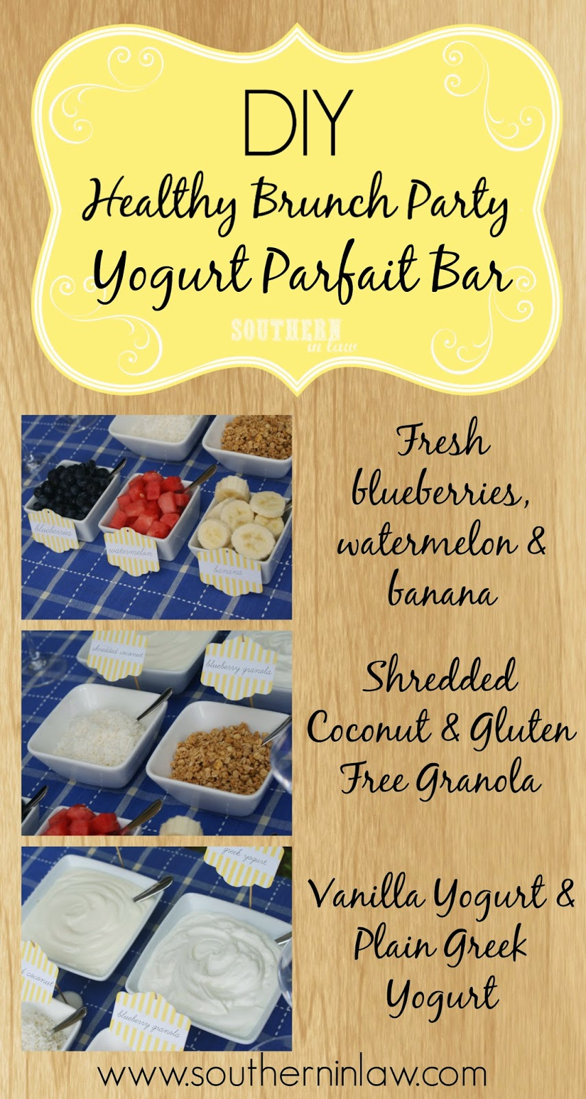 How to host your own healthy brunch party - DIY yogurt parfait bar