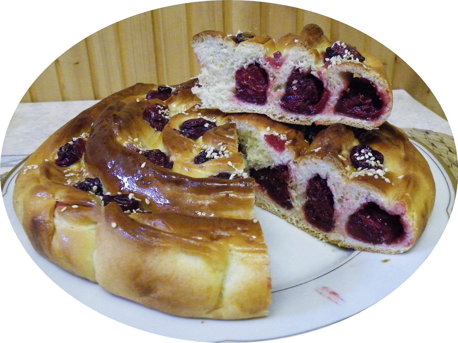 Cherry pudding cake with sour cherry juice. | The Fresh Loaf