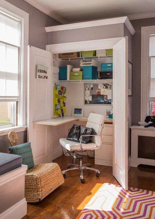 Modern diy desk ideas do it yourself ideas and projects - Creating a small home office ...
