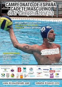 Cartel del Campeonato de España Cadete Masculino de 2ª Categoría -- Leioa 2012