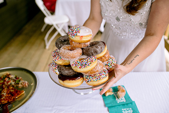 donut tower instead of wedding cake