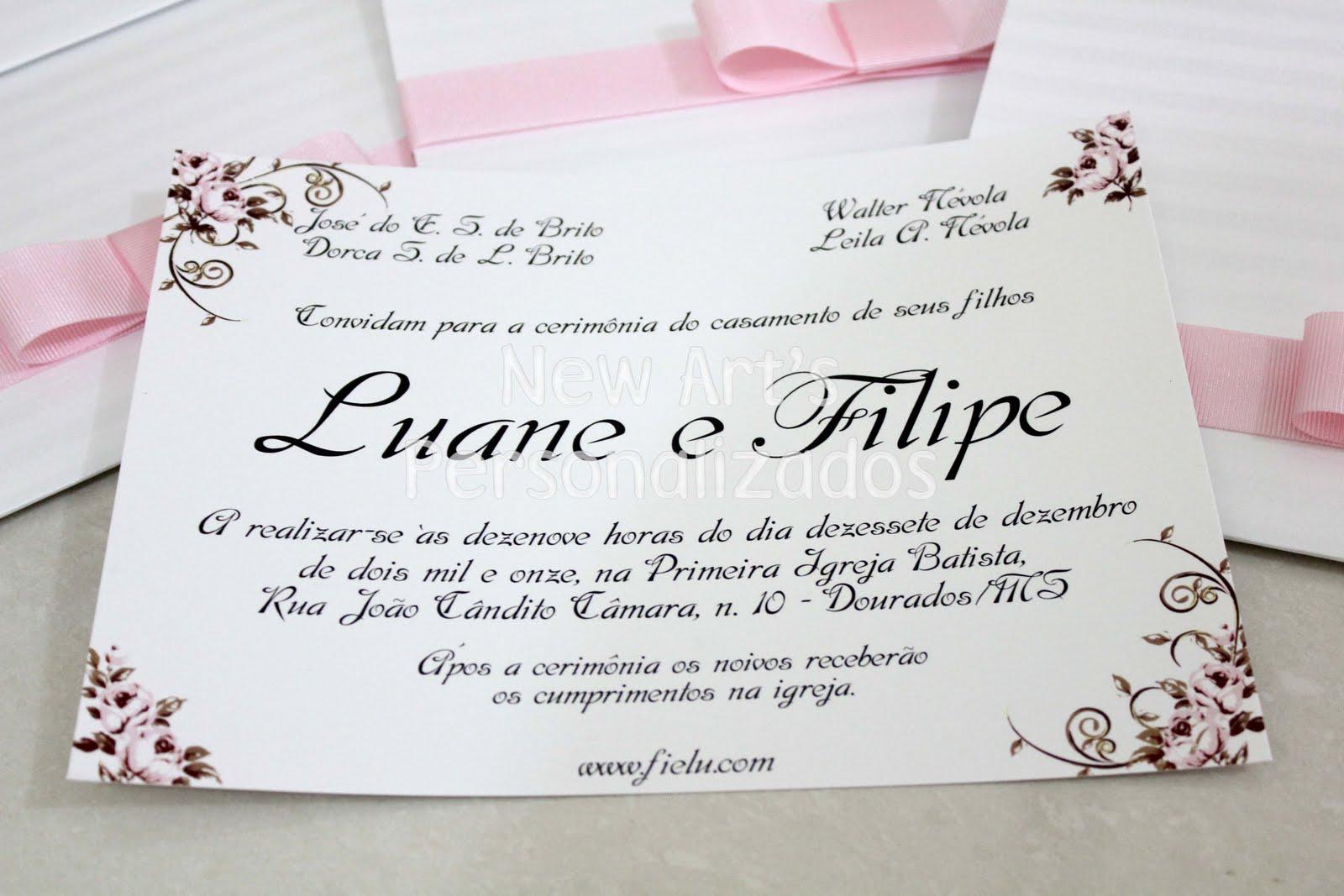Convites De Casamento Da Lu