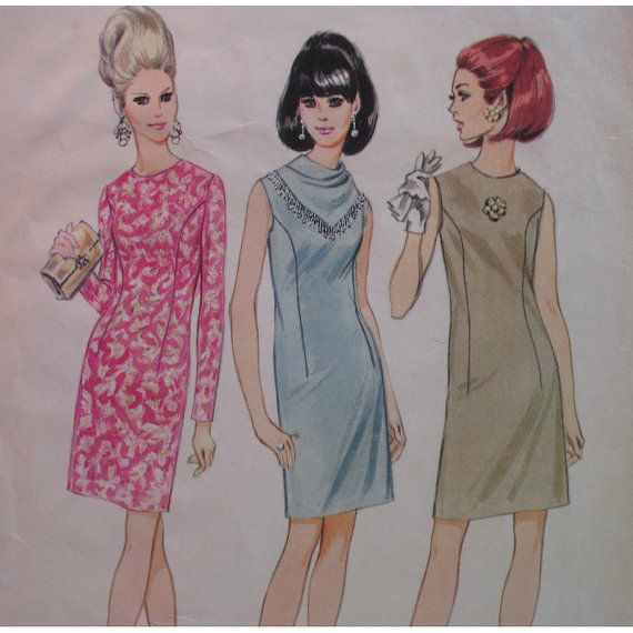 1960s wiggle dress pattern sewing Just Peachy, Darling