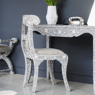 Superbe Bone Inlay Chair | Mother Of Pearl Inlay Chair | Ramu0027s Head Inlay Chair  From Jodhpur Rajasthan INDIA