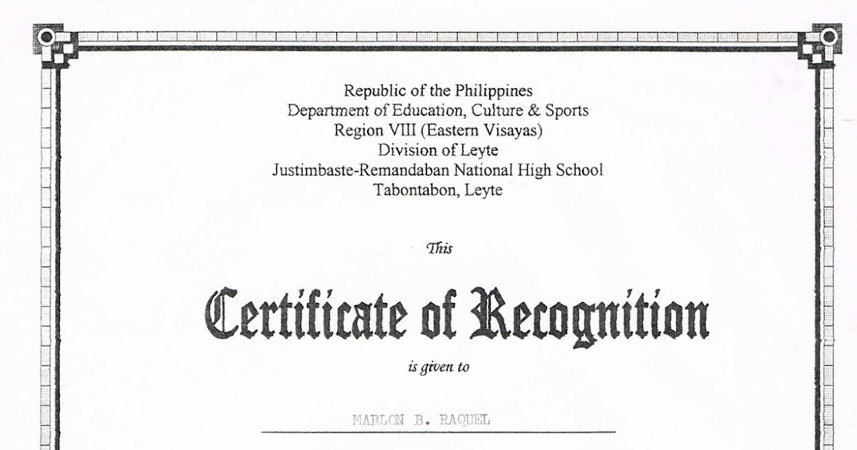 Tidbits and bytes example of certificate of recognition science tidbits and bytes example of certificate of recognition science quiz bee yadclub Images