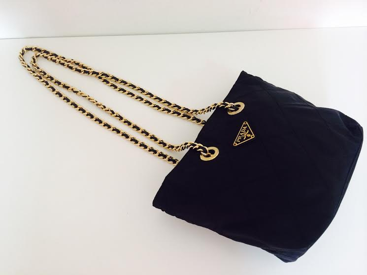 prada nylon bag with chain strap