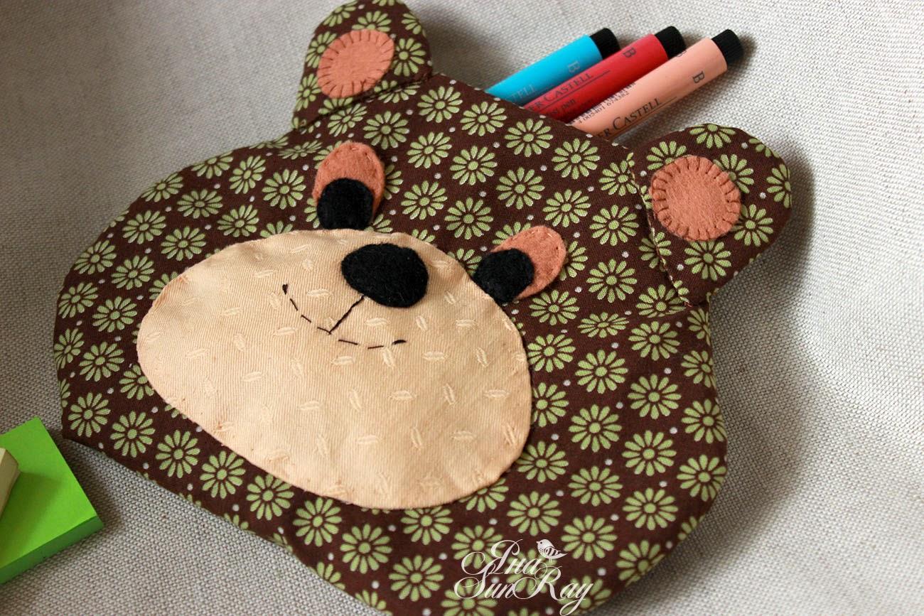 детское, шитье, сумки, пенал, настроение своими руками, сумочка в виде мишки, сумочка-мишка, милая сумочка