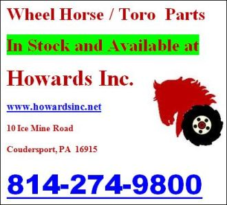 Wheel Horse / Toro Parts In Stock
