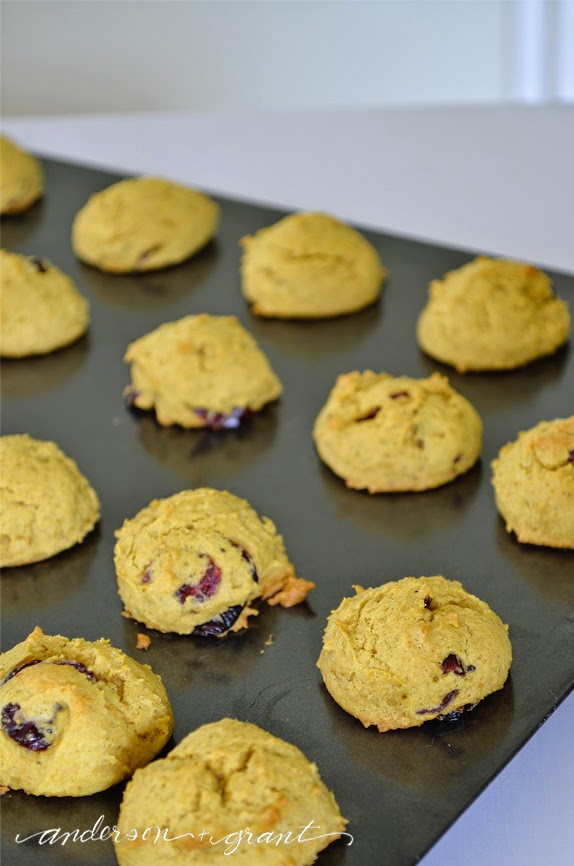 Cranberry Pumpkin Cookies with Burnt Butter Icing | www.andersonandgrant.com