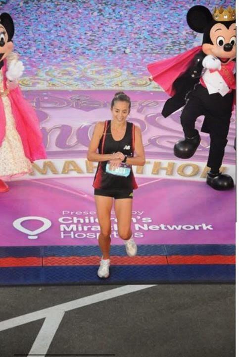 Mariela Ortiz en la Princess Half Marathon