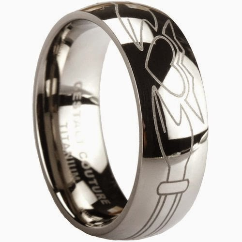 Most Unique Claddagh Ring. Solid Titanium