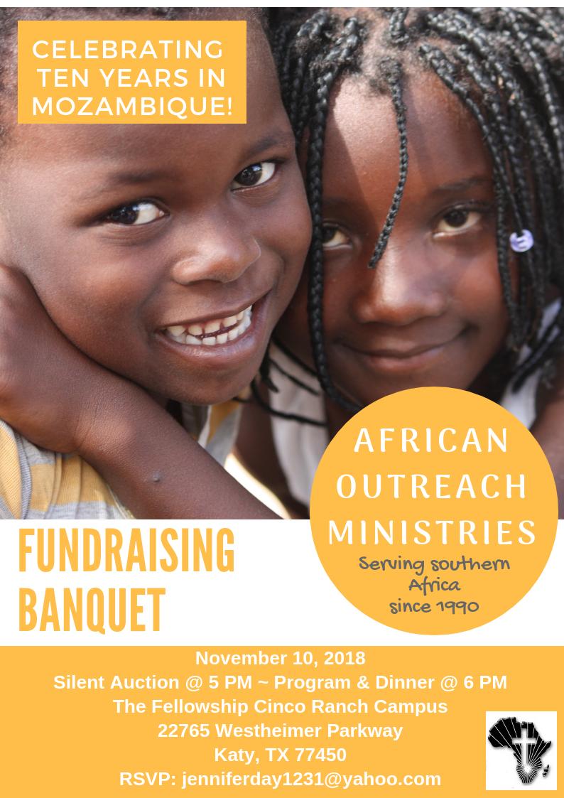 Ministry Banquet! November 10, 2018